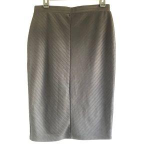 Apt. 9 Chevron Texture Midi Skirt